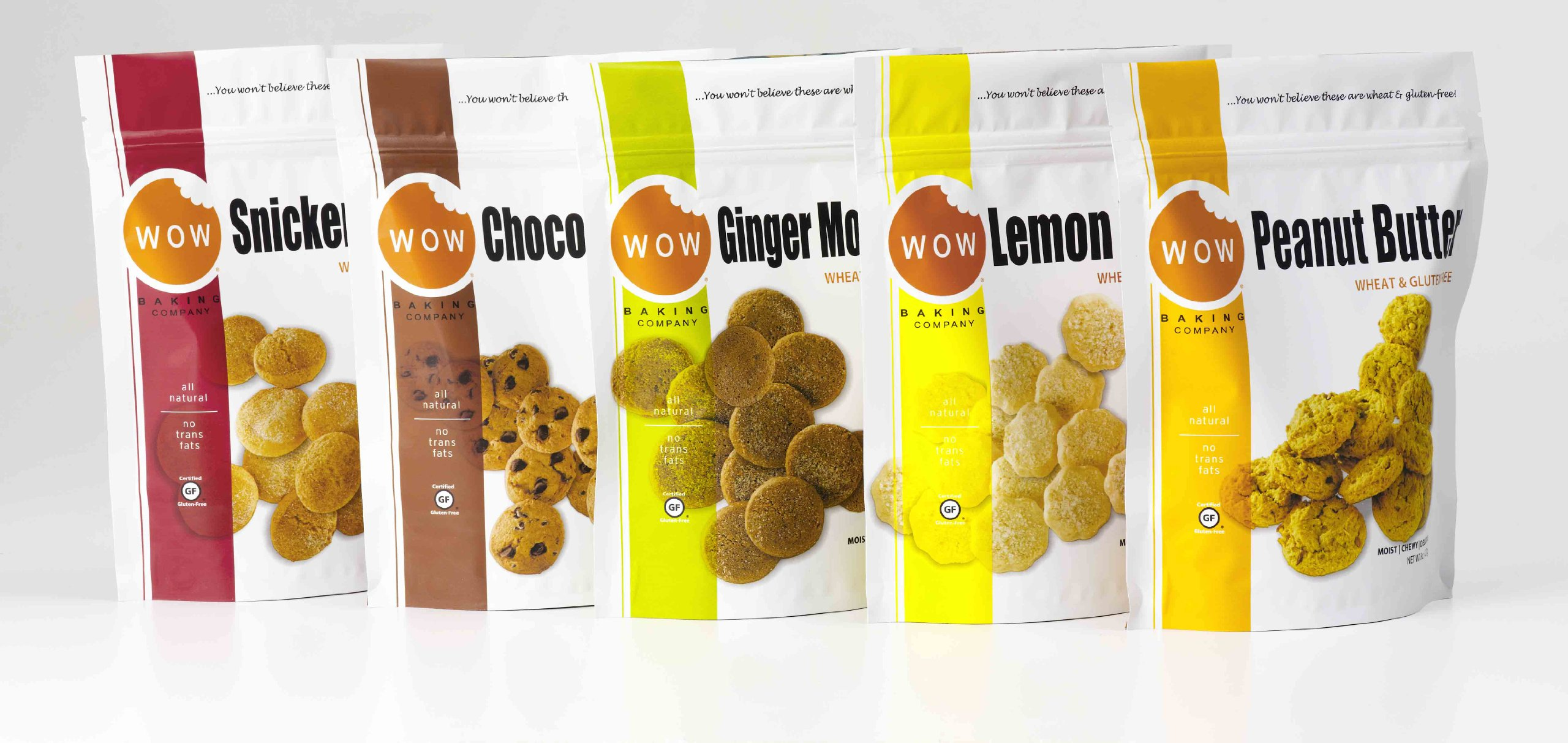 Wow Baking Company Bagged Cookies,5 Variety Pack, 8-Ounce by WOW Baking Company