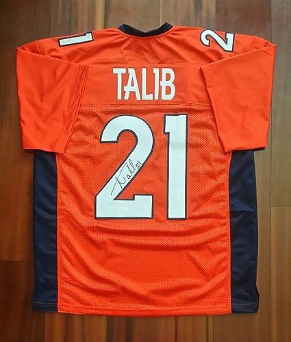 the best attitude 7d188 fadc1 Aqib Talib Signed Jersey - JSA Certified - Autographed NFL ...