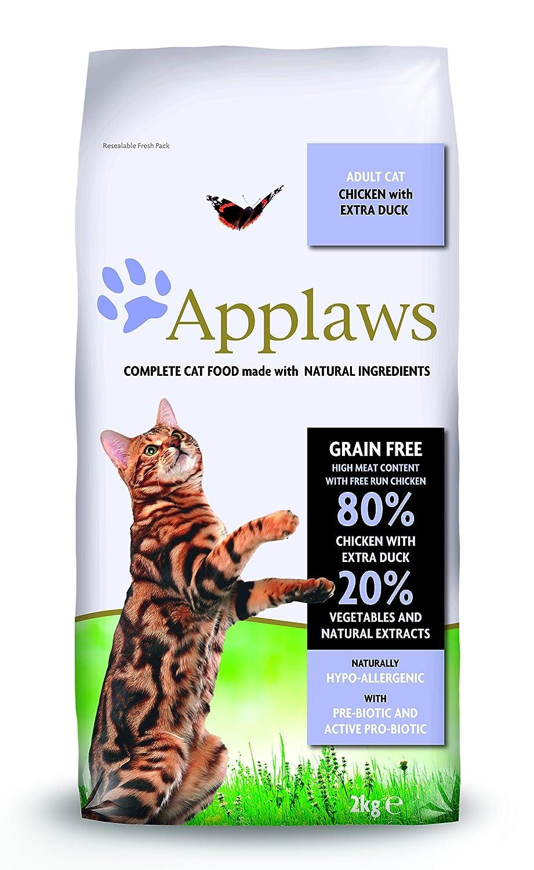 Applaws Comida seca para gatos, pollo y pato/adulto, 2 kg: Amazon ...