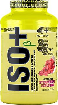 4+ NUTRICIÓN ISO + con probióticos 1 paquete de proteína de suero aislado proteína de suero proteína del edificio del músculo en polvo (Strawberry ...