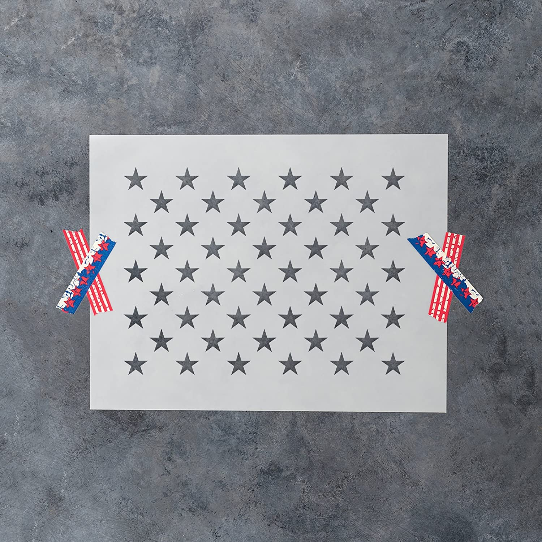 Amazon.com : 50 Stars Stencil Template - Reusable Stencil of ...