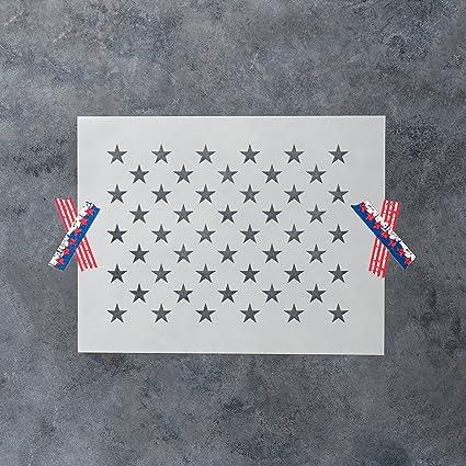 amazon com 50 stars stencil template reusable stencil of american