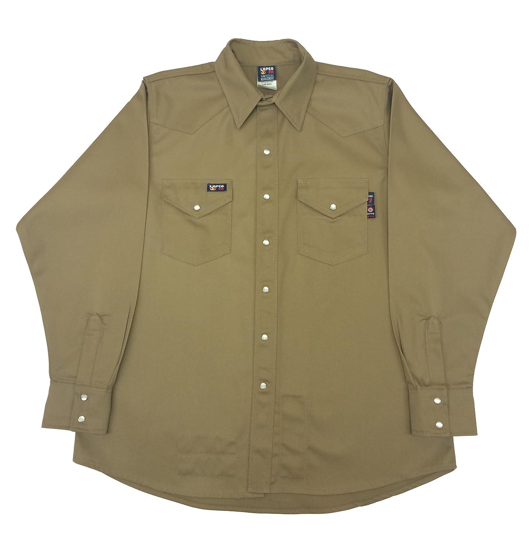 37f178c9922 Amazon.com  Lapco FR IGR7WS-2XL-LONG Flame Resistant Western Shirts ...