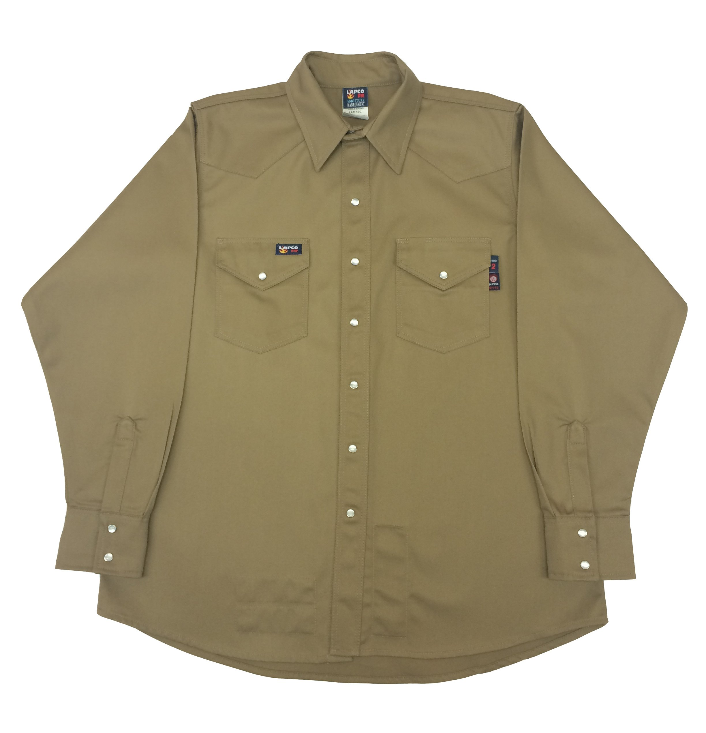 Lapco FR INV7WS-5XL-REG Flame Resistant Western Shirts Navy New Large//Regular