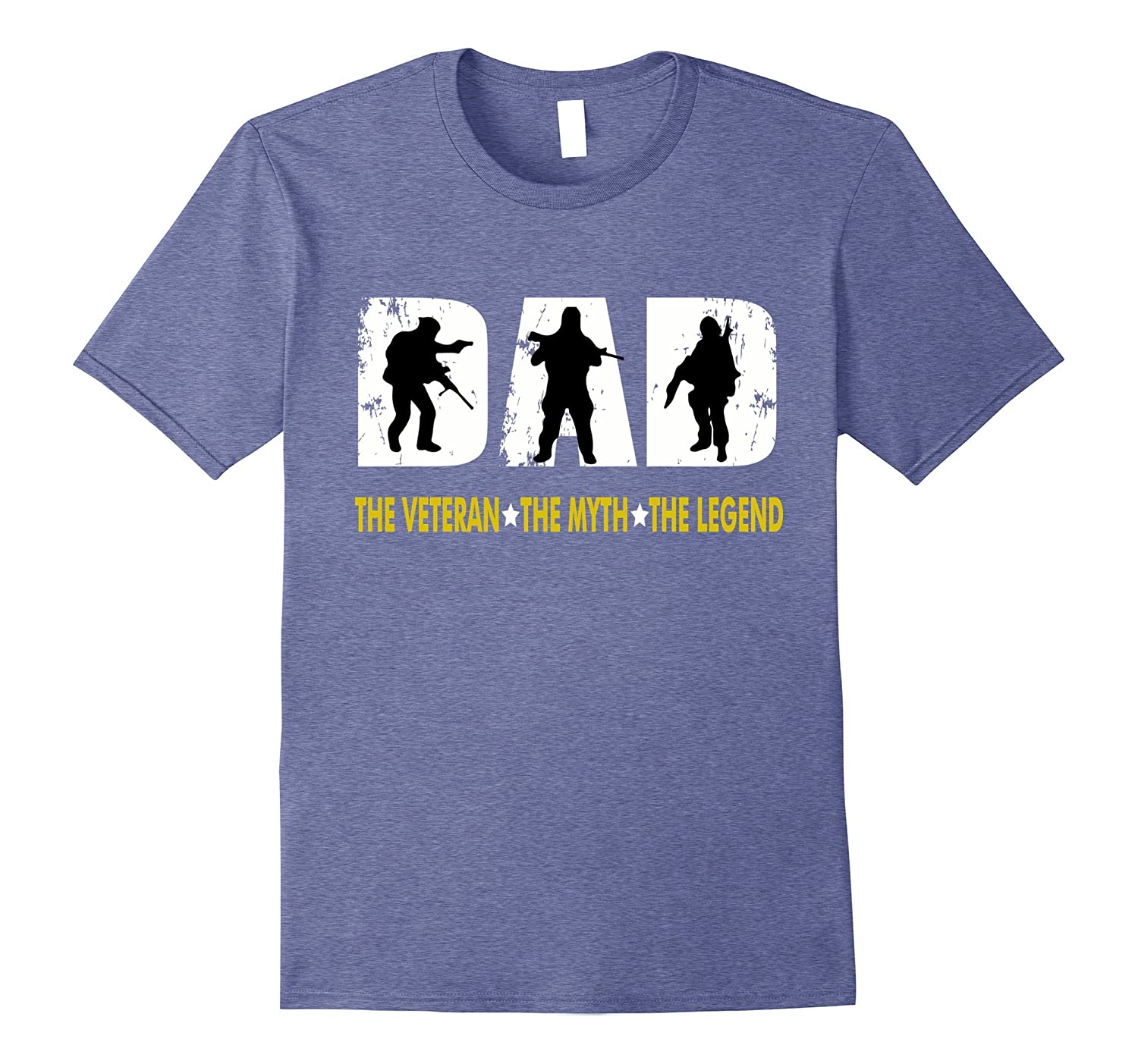 f8ab76b1a Dad The Man The Myth The Legend for Veterans Father T-shirt-PL ...