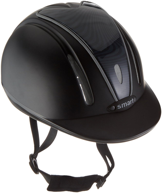 PFIFF Casque d'équitation ï30014ï Noir/Gris 56–59cm 102202-57-5659