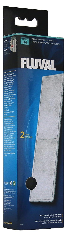Fluval A492 Polyester / Insert de filtre à charbon actif pour filtre interne Fluval U4, 3 x 2 pièces