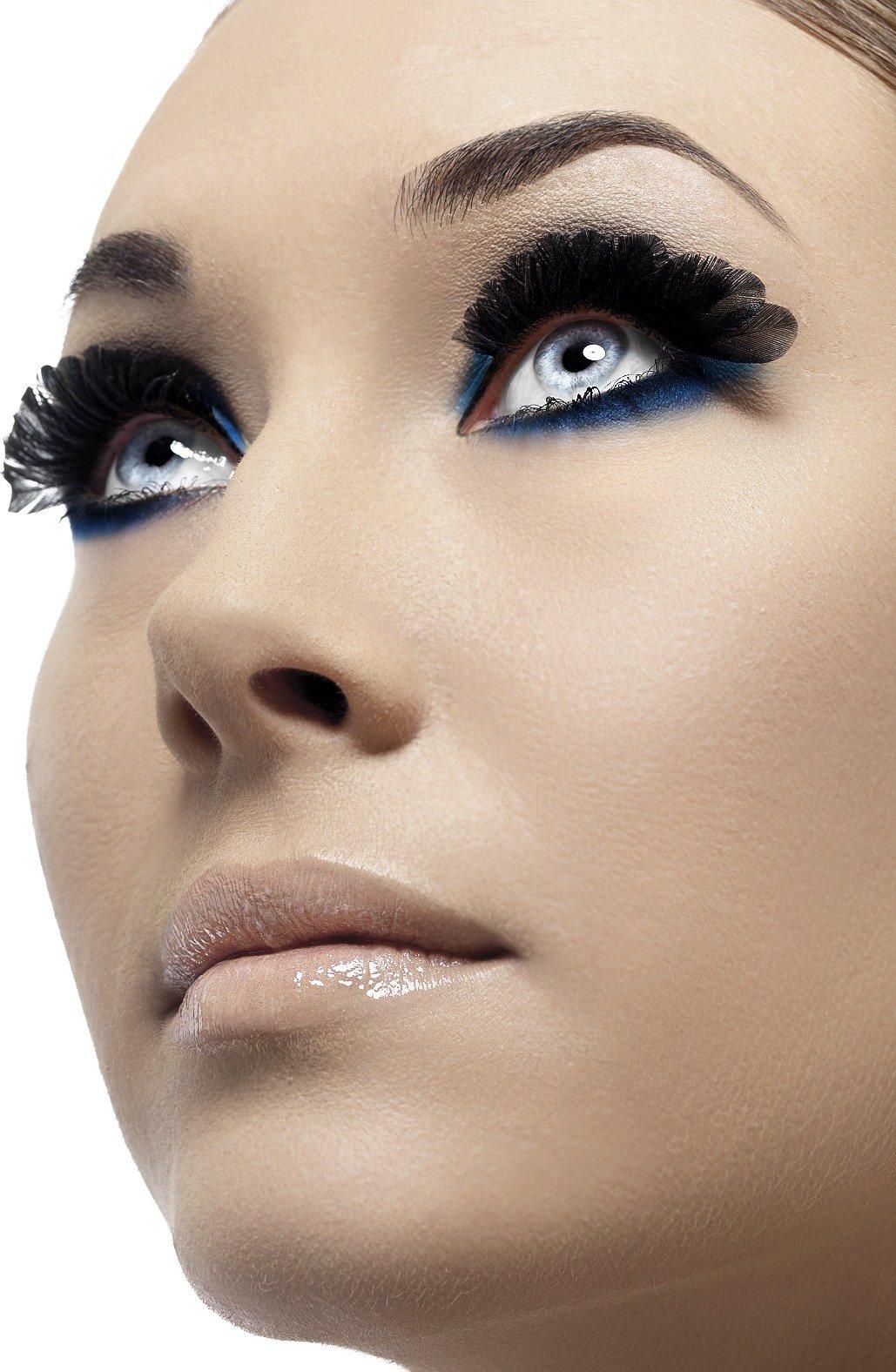 Fever Women's  Eyelashes, Short black feathers, Contains Glue, One Size, 36522