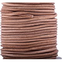 4mm Cowhide Leather Strap Brown CleverDelights 5//32 Genuine Leather Flat Cord 25 Feet