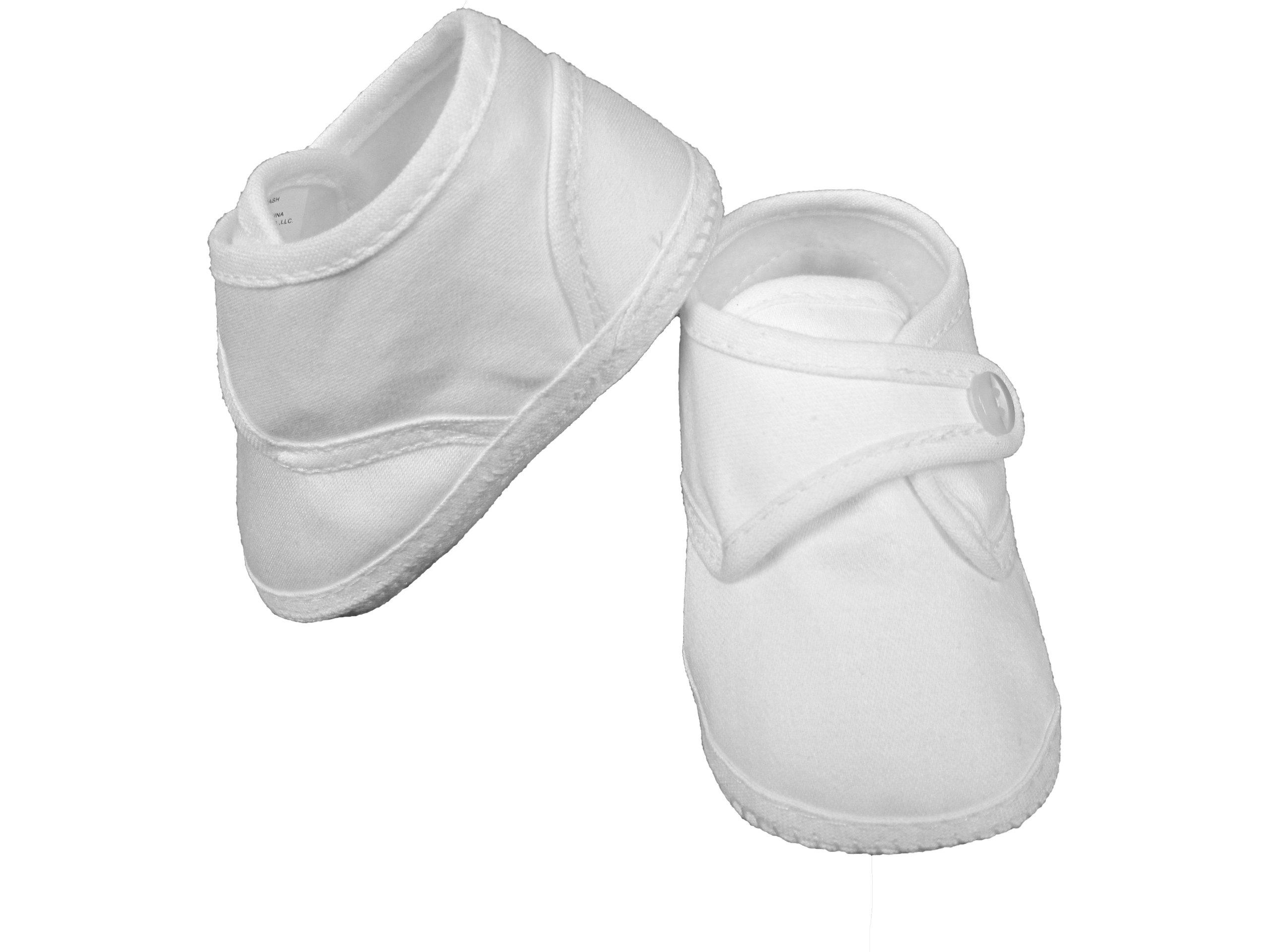 Boys Cotton Shoe with Button Closure - Size 1