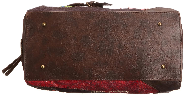 Desigual BOLS_TOKYO GALACTIC-SEDUCCIÓ - Bolso tipo baguette de material sintético mujer, color rojo, talla 17x23x34 cm (B x H x T): Amazon.es: Zapatos y ...