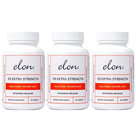 Elon R3 Extra Strength for Hair Growth -3 Pack