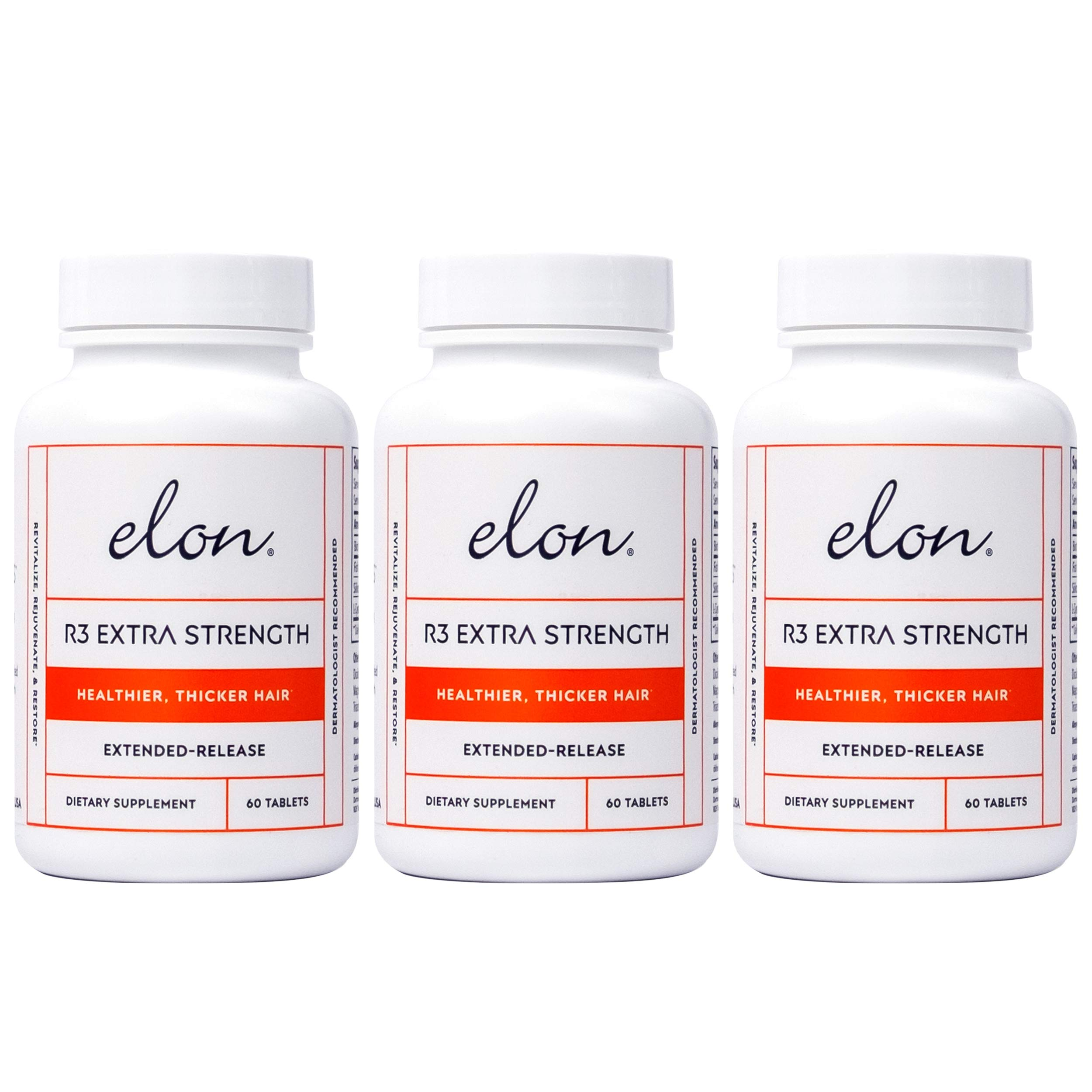 Elon R3 Extra Strength for Hair Growth -3 Pack