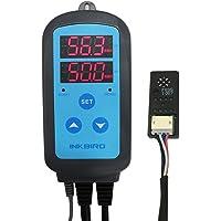 Inkbird IHC-200 Higrómetro Digital hay 2 Relés Control de Humedad Temperatura con Sonda Externo Regulador Humidificadores & Deshumidificadores
