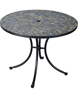Amazon home styles 5605 30 outdoor marble patio dining table home styles 5601 30 stone harbor slate tile top outdoor dining table watchthetrailerfo