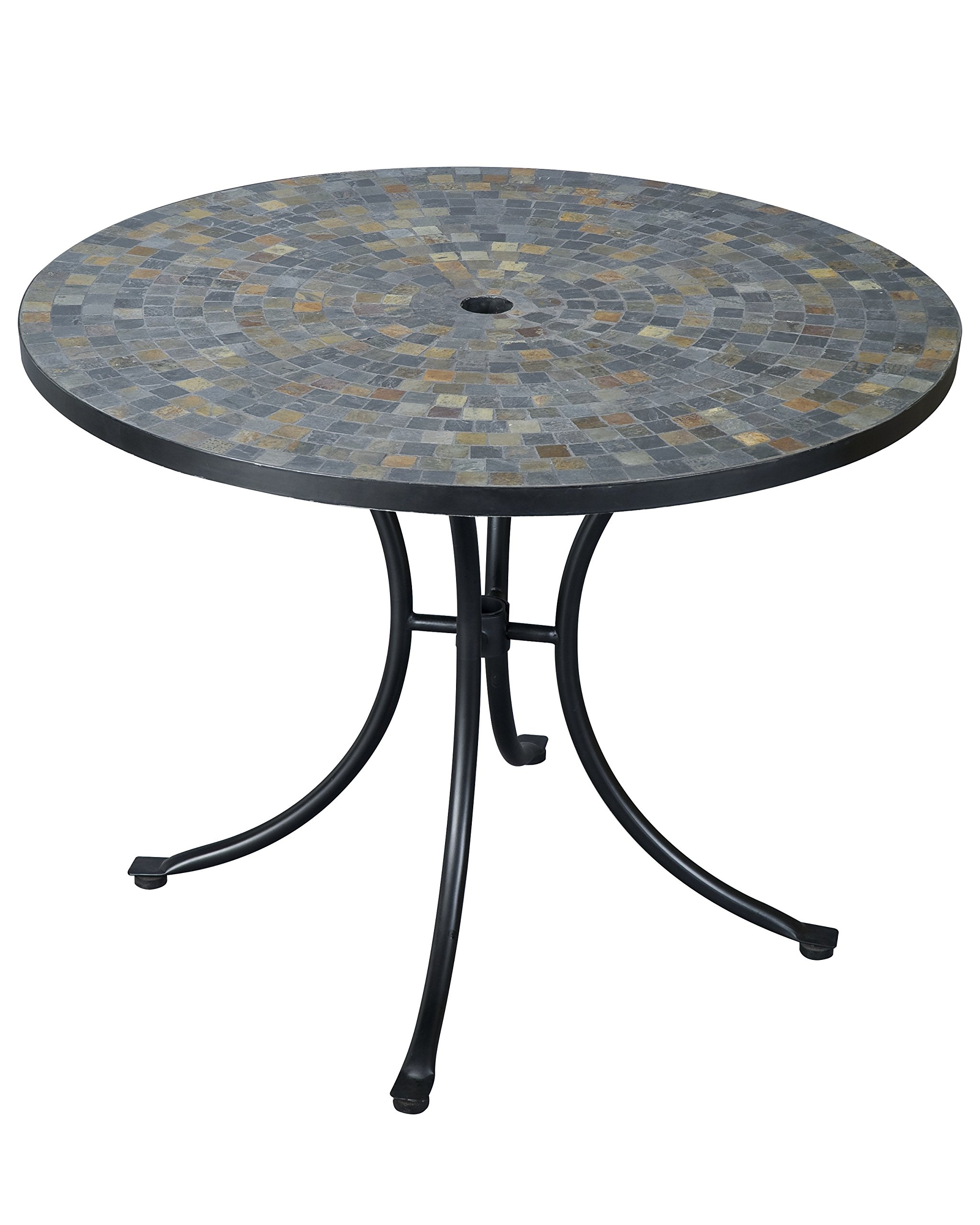 Stone Harbor Slate Tile Top Outdoor Dining Table by Home Styles