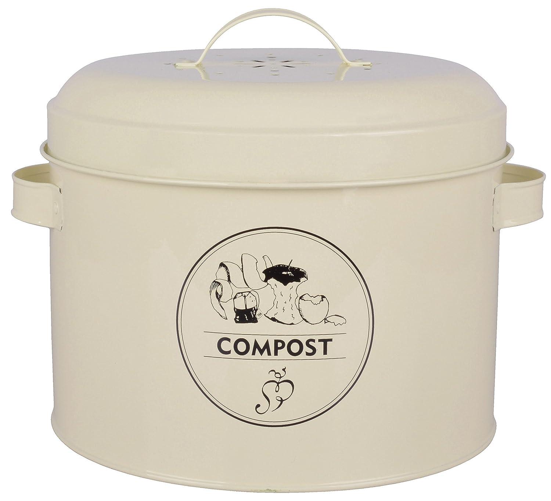 Esschert Design Komposter aus Metall mit Aktivkohlefilter, 27,0 x 23,2 x 21,3 cm Esschert' s Design C2071