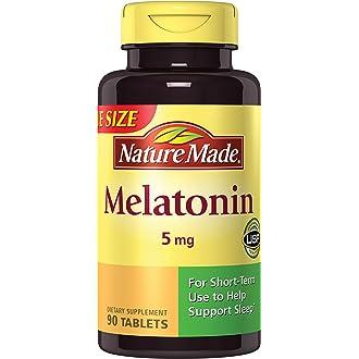 #6 Nature Made Maximum Strength Melatonin 5 mg Tablets 90 Ct