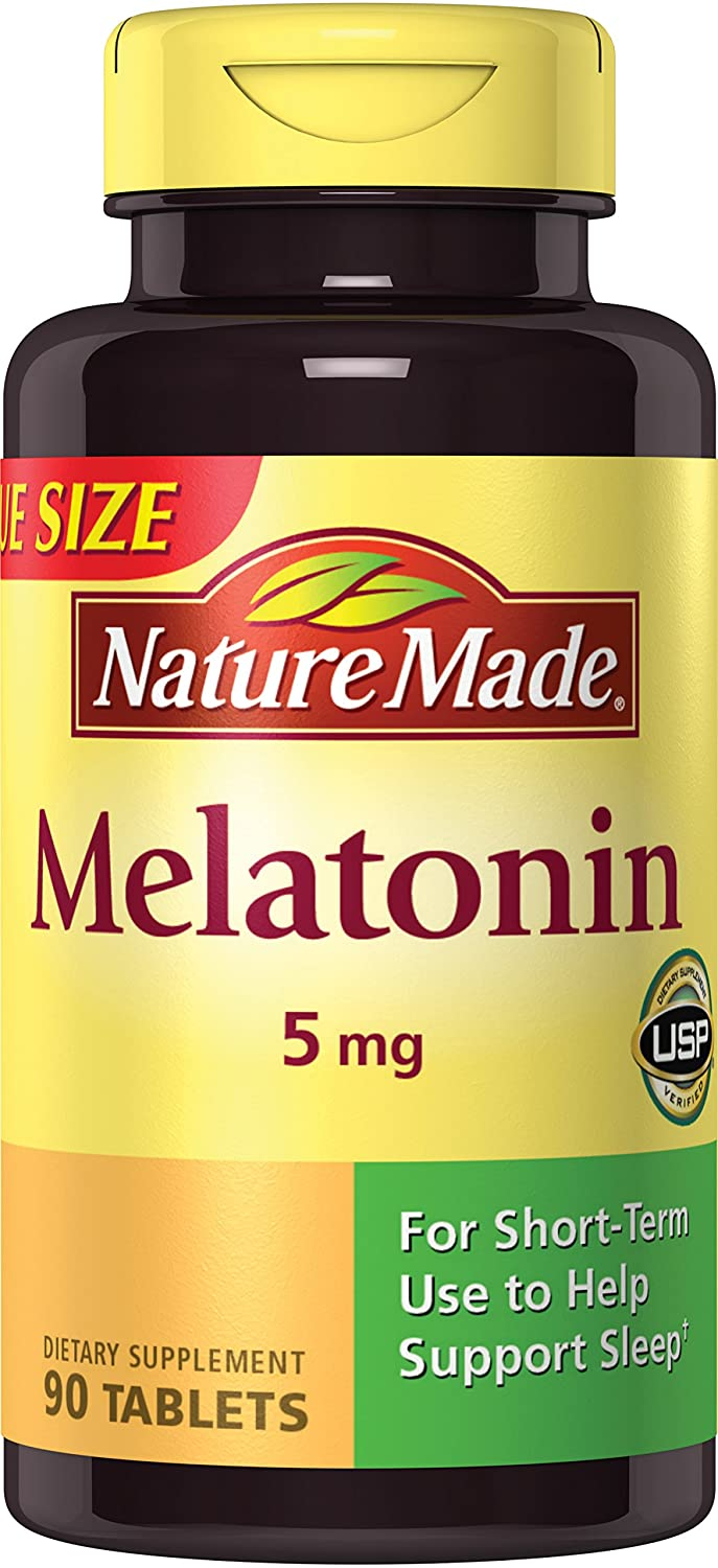 Nature Made Maximum Strength Melatonin 5 Mg Tablets 90 Ct by Nature Made