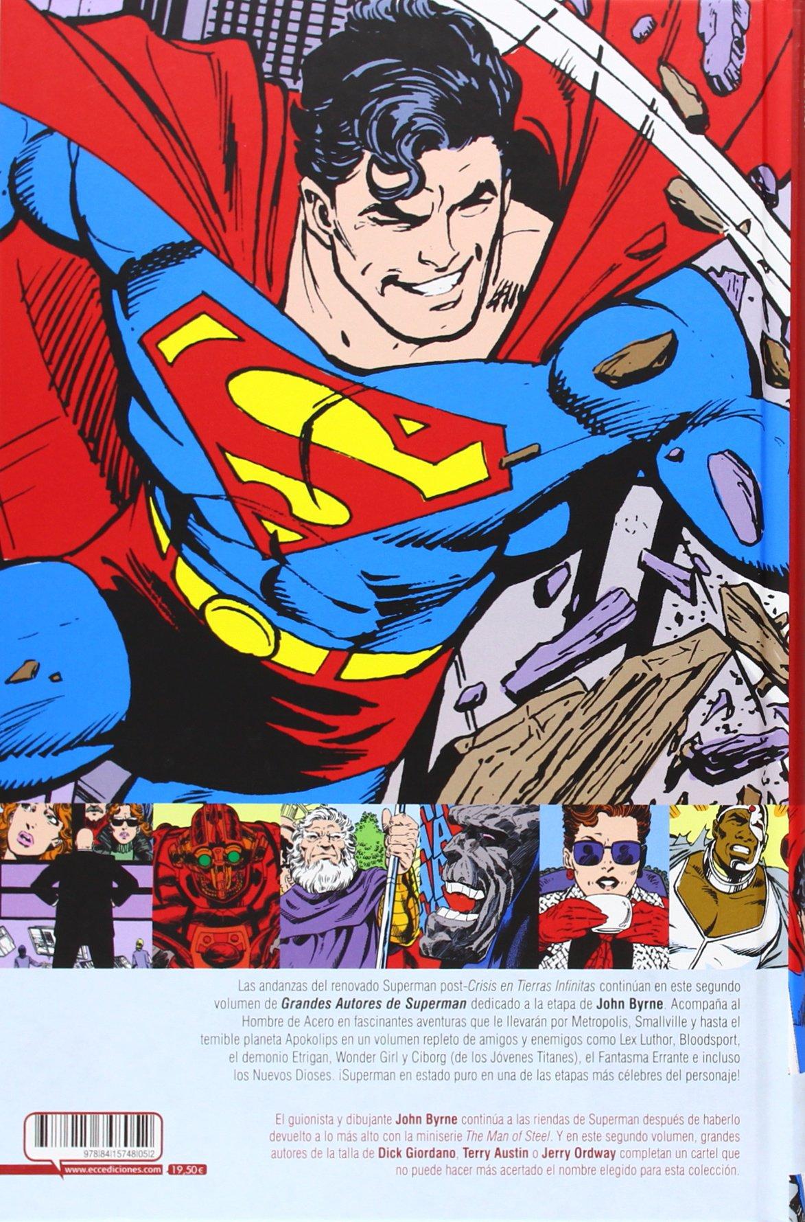 Grandes Autores de Superman: El hombre acero vol. 2: BYRNE ...