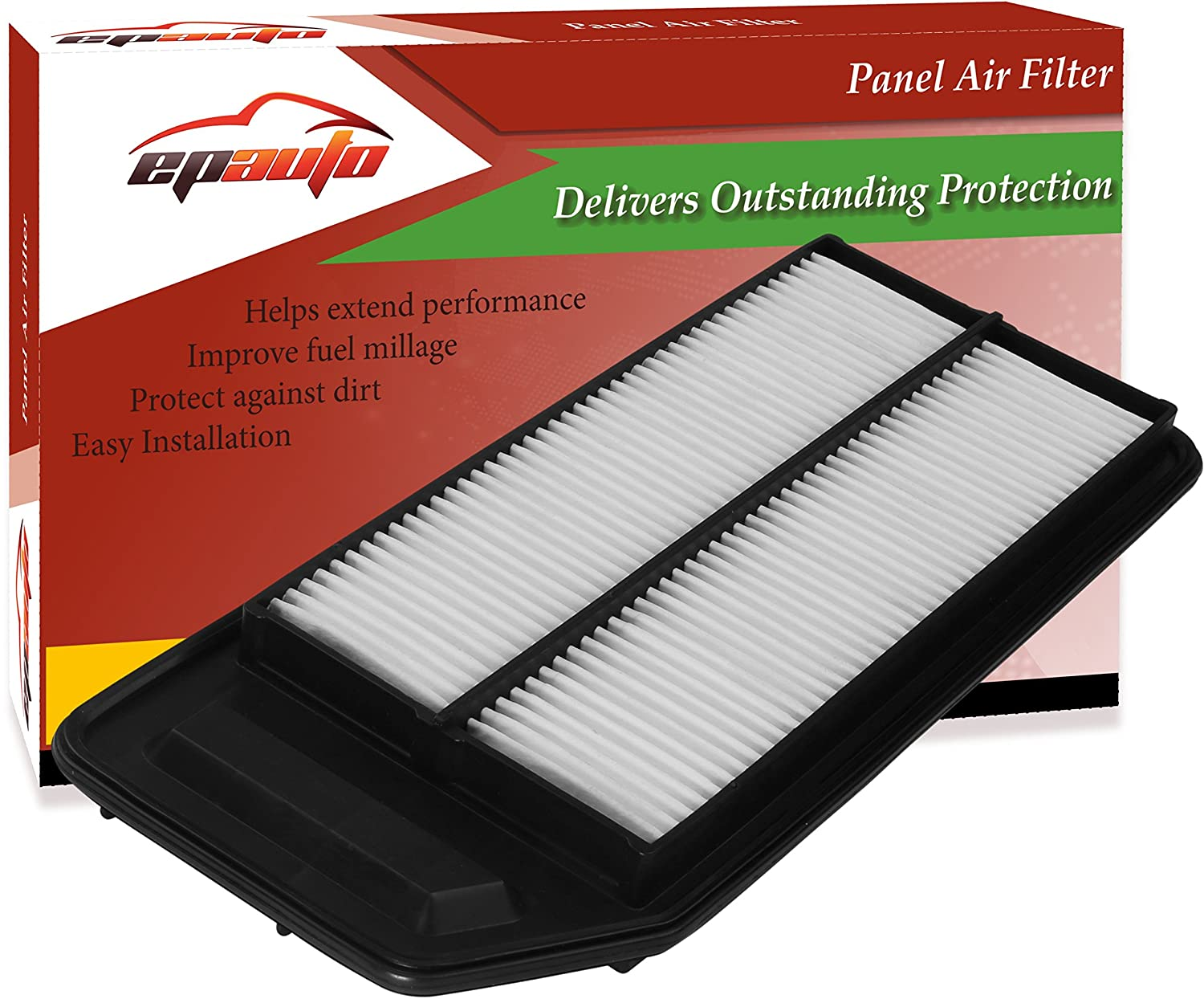 Amazon.com: EPAuto GP564 (CA9564) Honda / Acura Replacement Extra Guard  Rigid Panel Engine Air Filter for Accord L4 (2003-2007), TSX (2004-2008):  Automotive