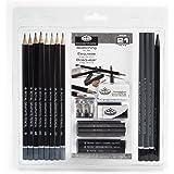 Royal & Langnickel RART-200 Essentials Sketching Pencil Set, 21-Piece