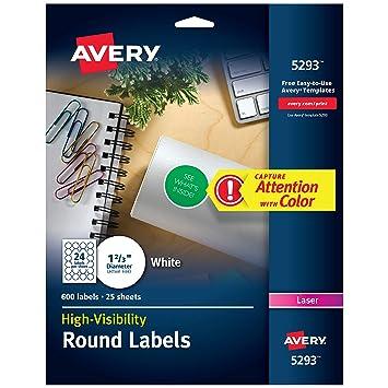 Avery 5293 Selbstklebend Label Selbstklebende Etiketten Weiss
