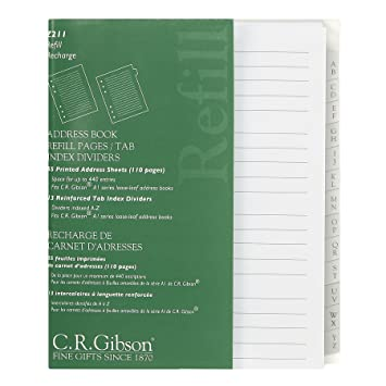 amazon co jp c r gibson address book refill pages with tab index