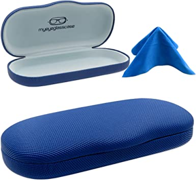 Sunglasses /& Eyeglasses Protective Case Small Shiny Vinyl Hard Case
