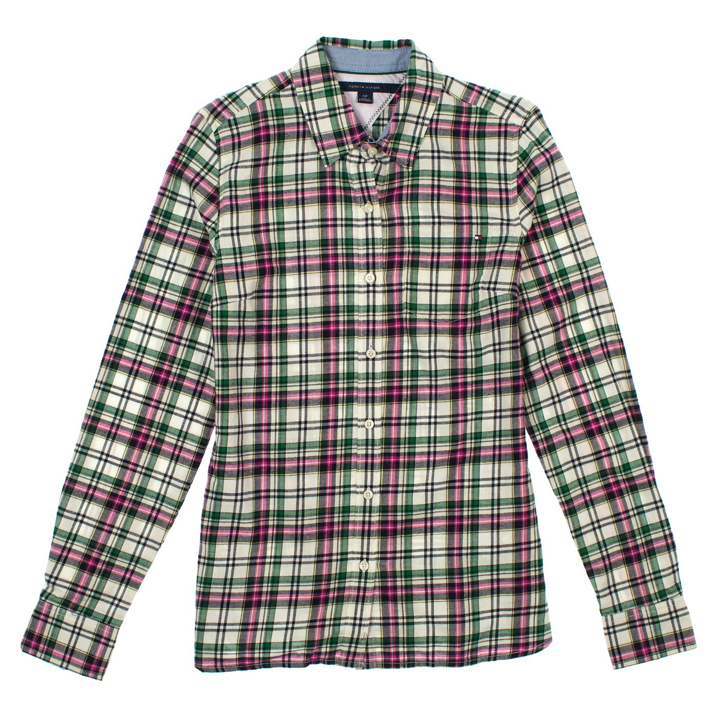 bd3e91d6 Tommy Hilfiger Womens Plaid Button Up Shirt at Amazon Women's Clothing  store: