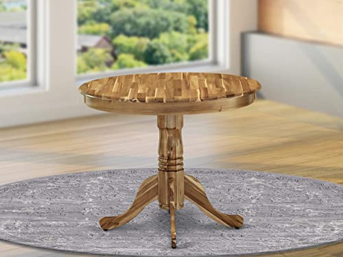 East West Furniture Antique Dining Table Made of Acacia offering Wood Texture