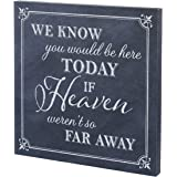"Lillian Rose SI510 HT 11.75"" Black & White ""Here Today"" Canvas Wedding Sign"