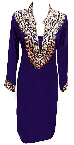 a4eb6cb6f8c81 Desi Sarees Women s Kurti Thread Work Tunic Kurta Tops 6078  Amazon.co.uk   Clothing