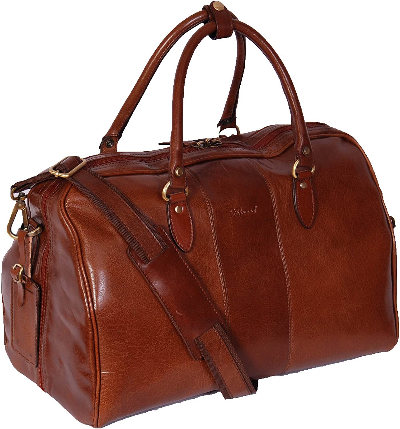 Qualityt  harison Leather Large Travel Hand Luggage Duffel Bag Holdall Weekend
