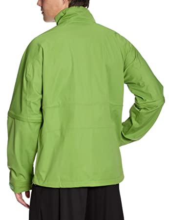 8057f079100d Nike Storm-Fit Men s Golf Jacket with 1 2 Zip Convertible Waterproof  chlorophyll