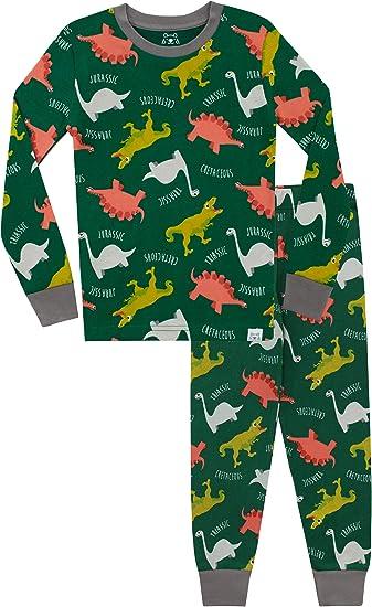 Harry Bear Pigiama a Maniche Lunghe per Ragazzi Dinosauri Vestibilitta Stretta
