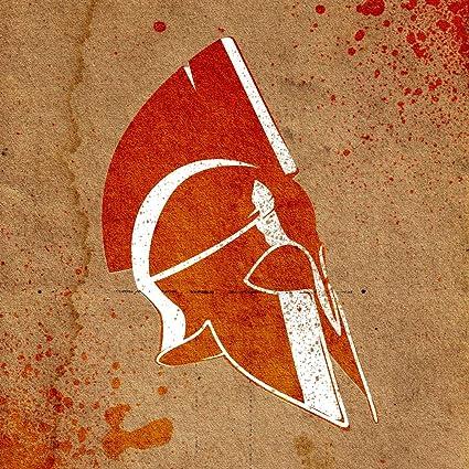 amazon com airbrush stencil template spartan helmet