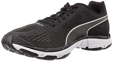 Puma Men's Mobium Ride v2 Black and Quarry Mesh Running Shoes - 8 UK/India