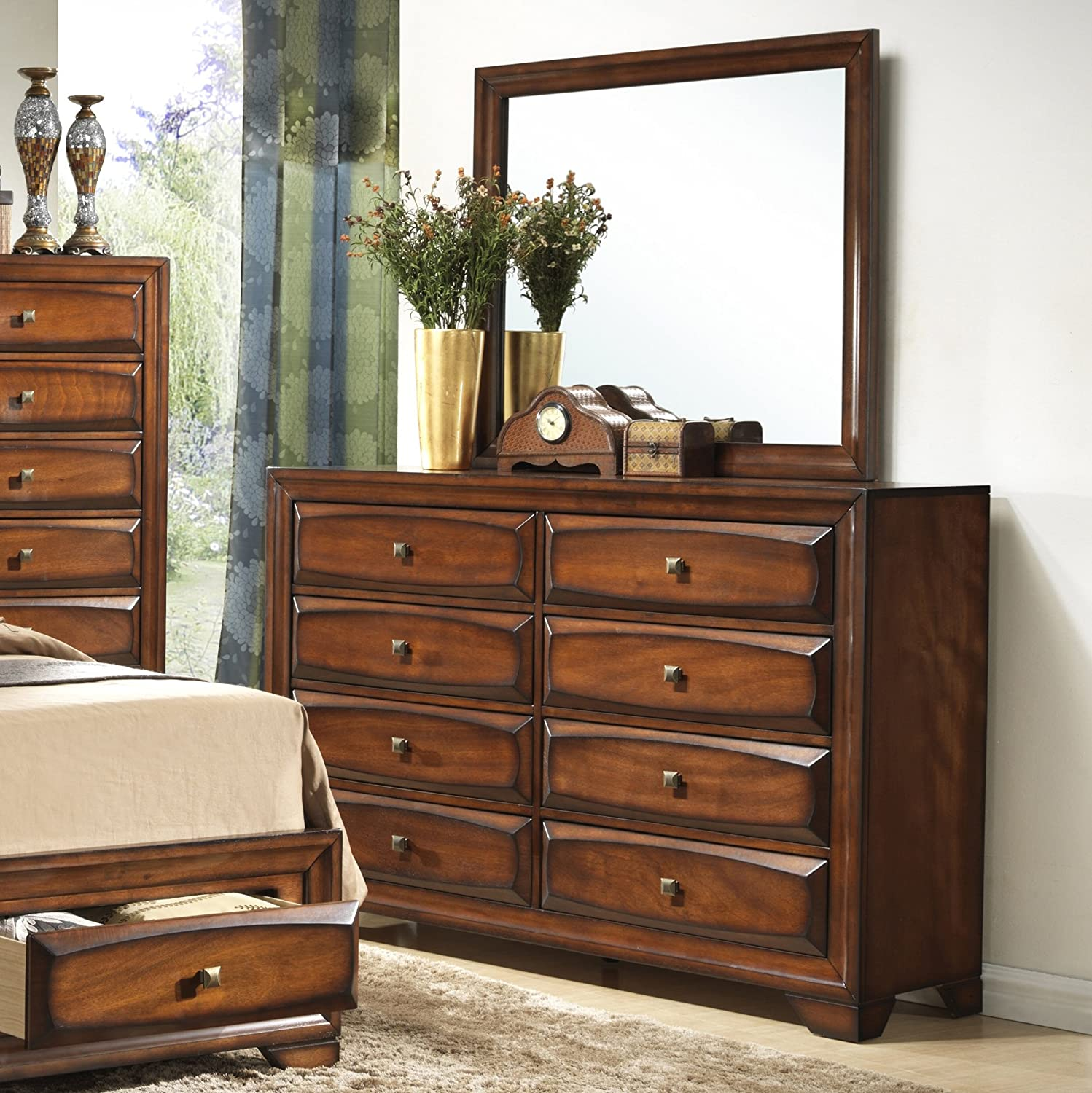 pulls b with mirror drawer platnum wolf by w products dresser pulaski furniture ring