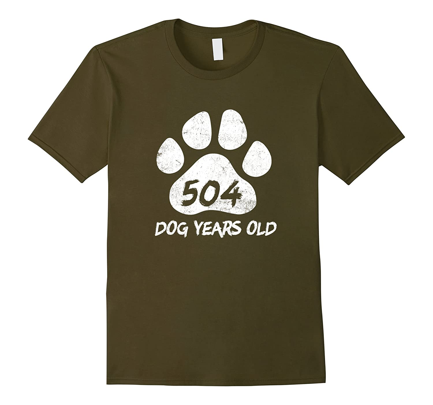 504 Dog Years Old Funny 72nd Birthday T-Shirt Novelty Gift-PL