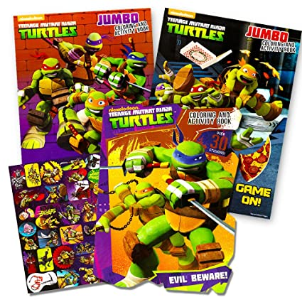 Amazon.com: Teenage Mutant Ninja Turtles Coloring and Activity Book ...