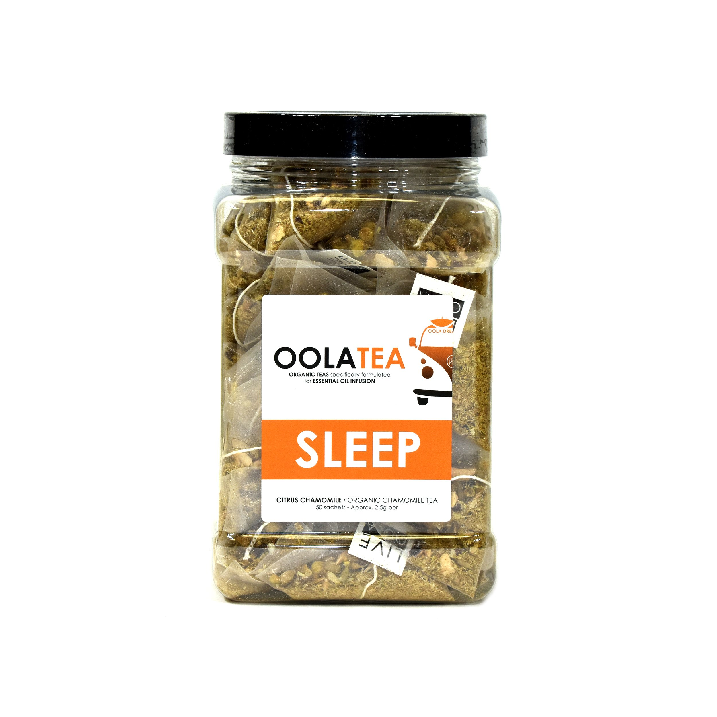 Oola Tea - SLEEP 50 Count | Certified Organic Citrus Chamomile | Improves Sleep | Reduces Stress
