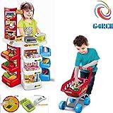 G4RCE® Kids Large Super Store Supermarket Market Stall Pretend Play Set Cash Register Food Toy Shop Shopping Basket UK