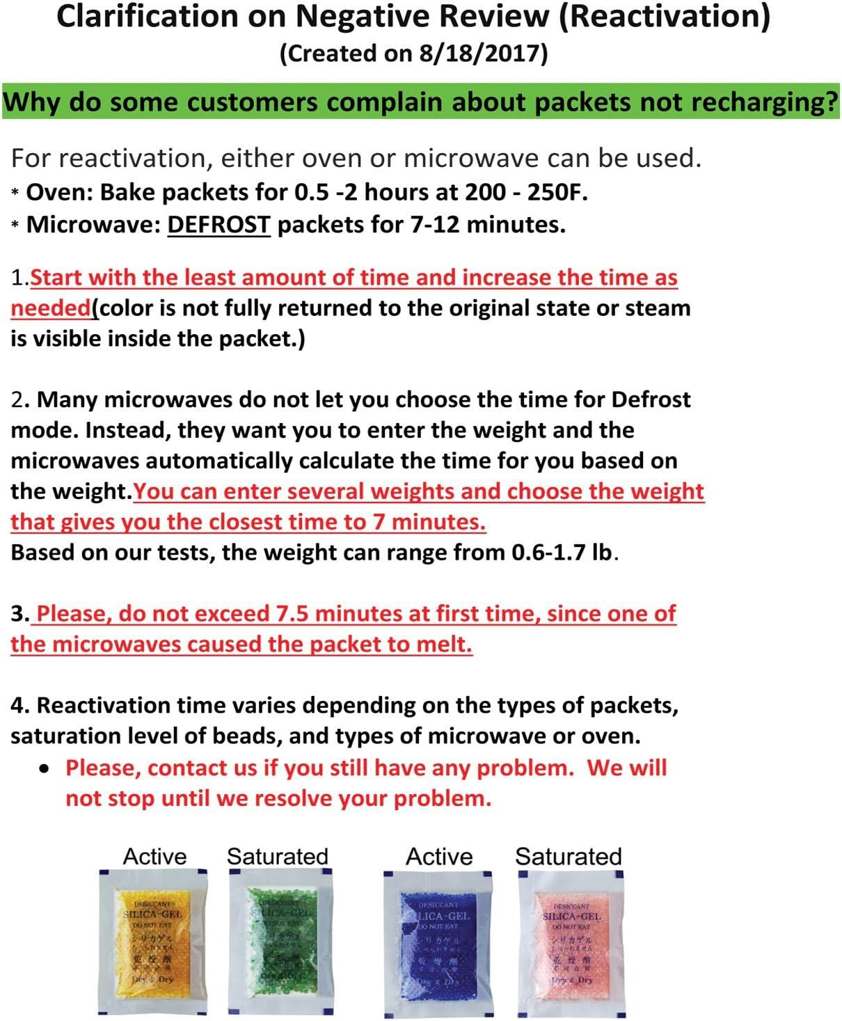 10 Gramm Silica Gel Trockenmittel Luftentfeuchter 2 1//4 x 3 1//4 25 Packungen
