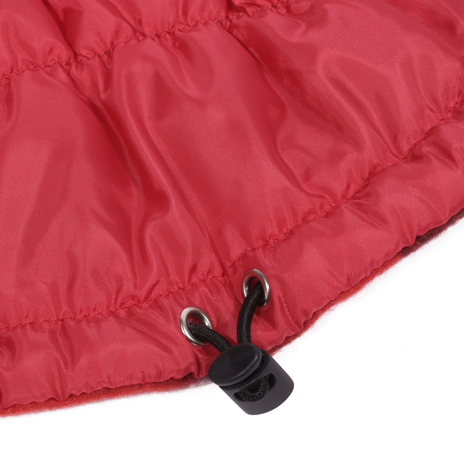 Pecute Dog Jacket Outdoor Winter Warm Pet Apparel with Strap Closure for Small Medium Dog Red Large