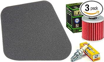 Tune Up Kit Air Filter Oil Filter Spark Plug ATV for Kawasaki Lakota KEF 300