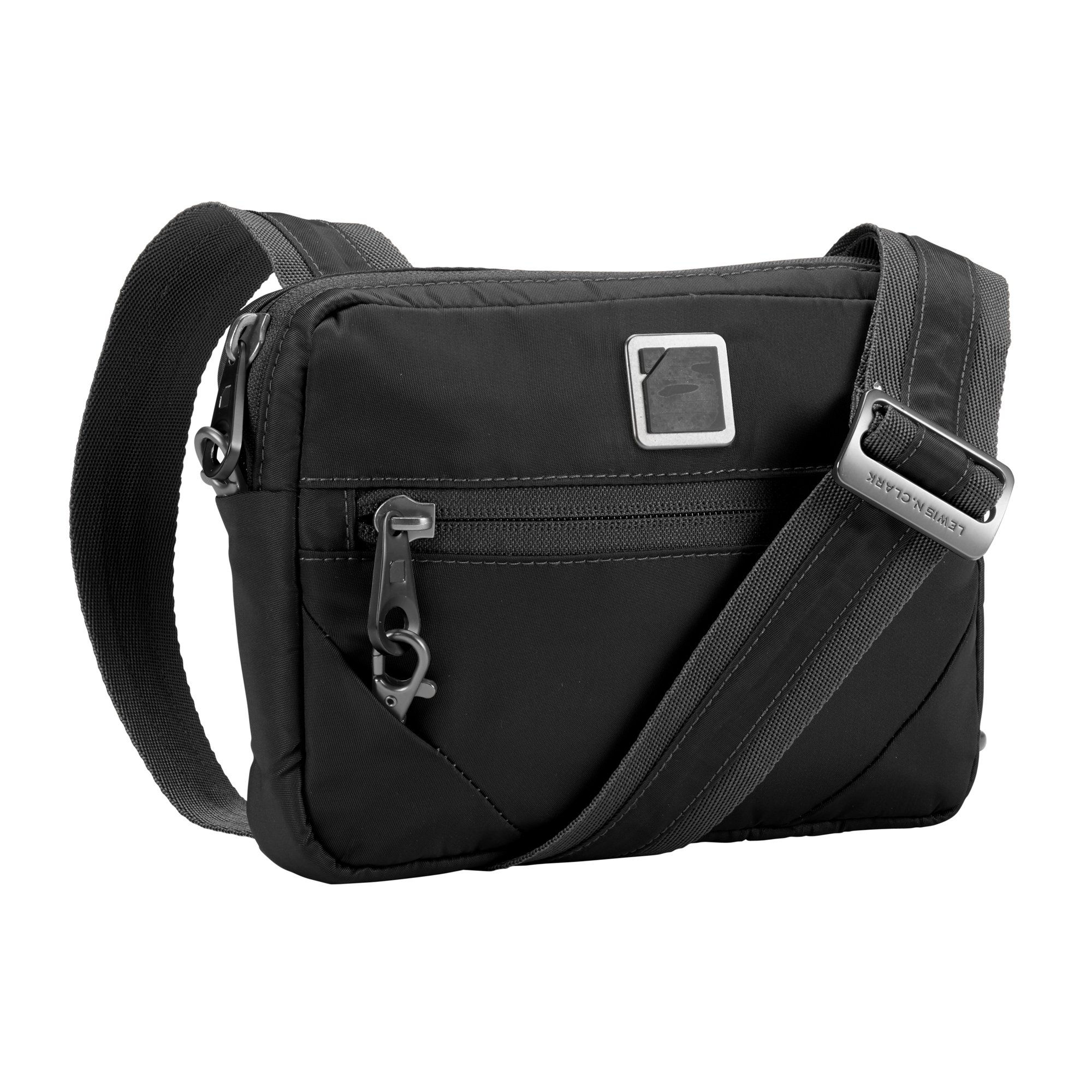 Lewis N. Clark Commuter + Messenger Bag for Women with RFID Blocking Anti-theft Technology & Adjustable Shoulder Strap, Onyx