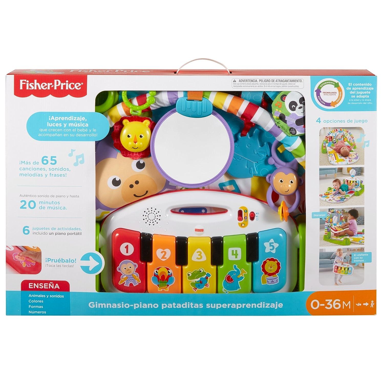 Fisher-Price Gimnasio Piano Pataditas superaprendizaje, manta de juego bebé (Mattel FWT12): Amazon.es: Juguetes y juegos