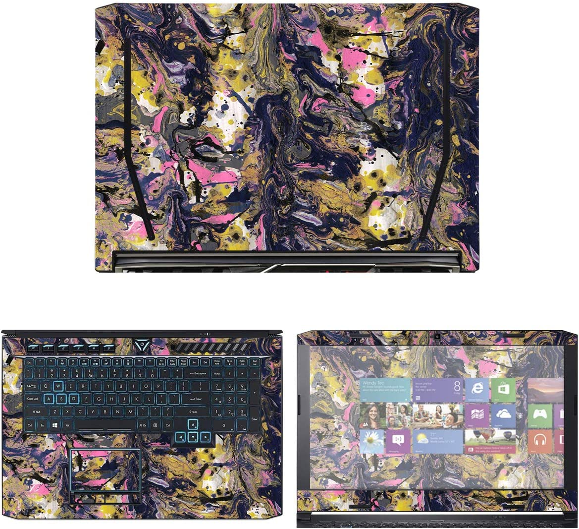 Decalrus - Protective Decal Skin Sticker for Acer Predator Helios 500 (17.3