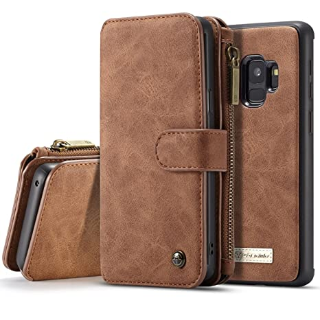 SAVYOU Galaxy S9 Funda Cartera, S9 Funda Magnética Desmontable Folio Cartera Case Slim Back Cover